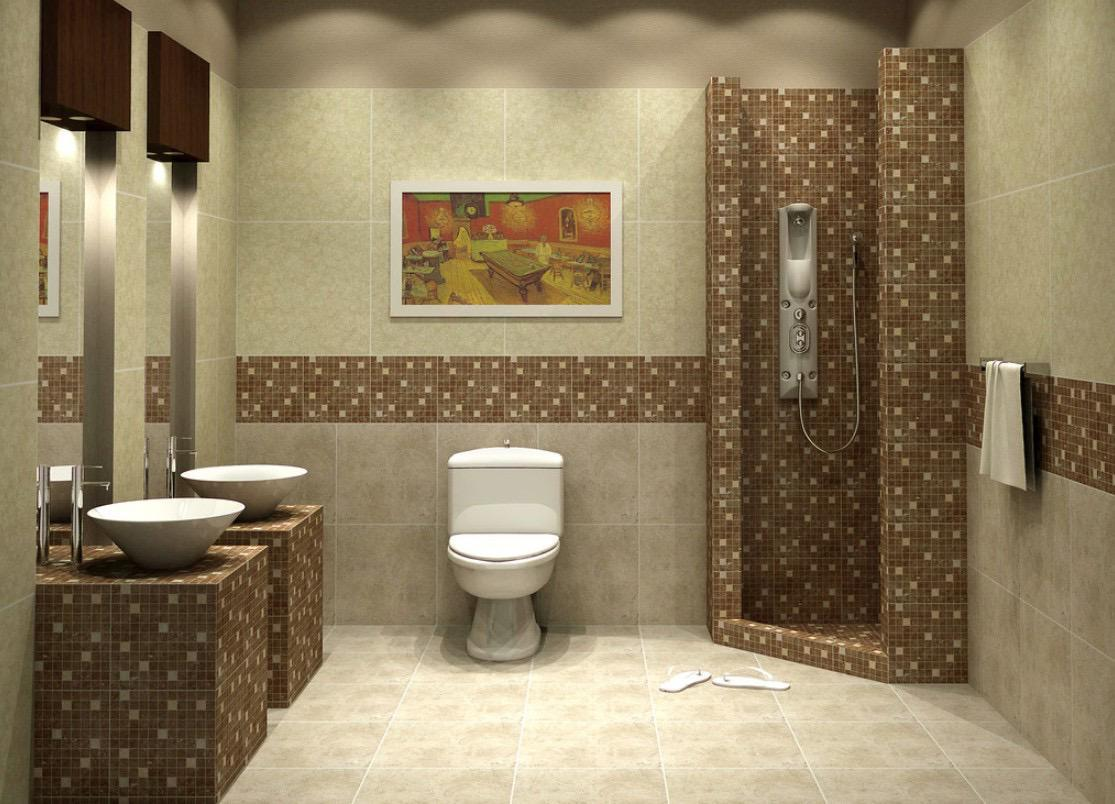 Image of: Mosaic Bathroom Pictures
