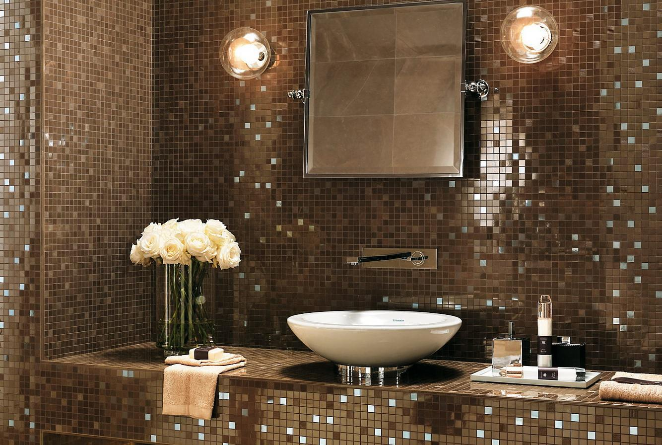 Image of: Mosaic Bathroom Remodels