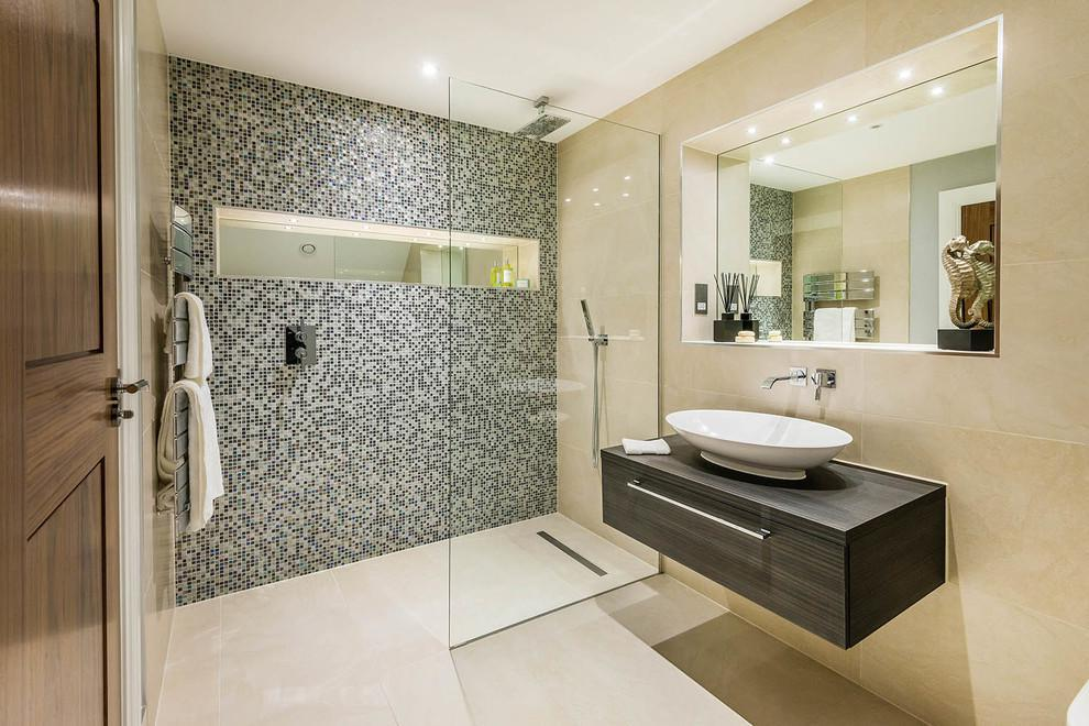 Image of: Mosaic Tile Backsplash Bathroom Design