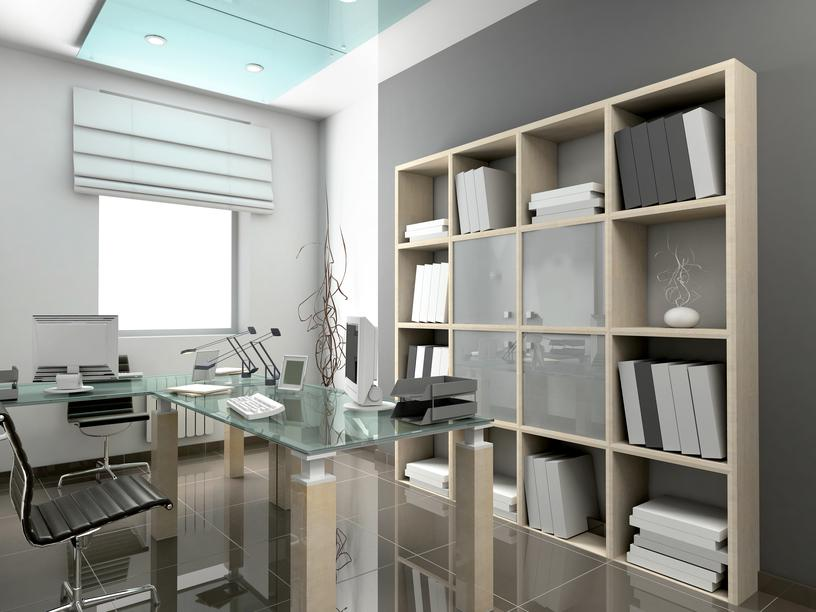 Image of: Elegant Office Furniture Arrangement Ideas