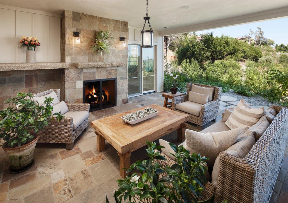 Image of: Outdoor Living Room Decorating Ideas