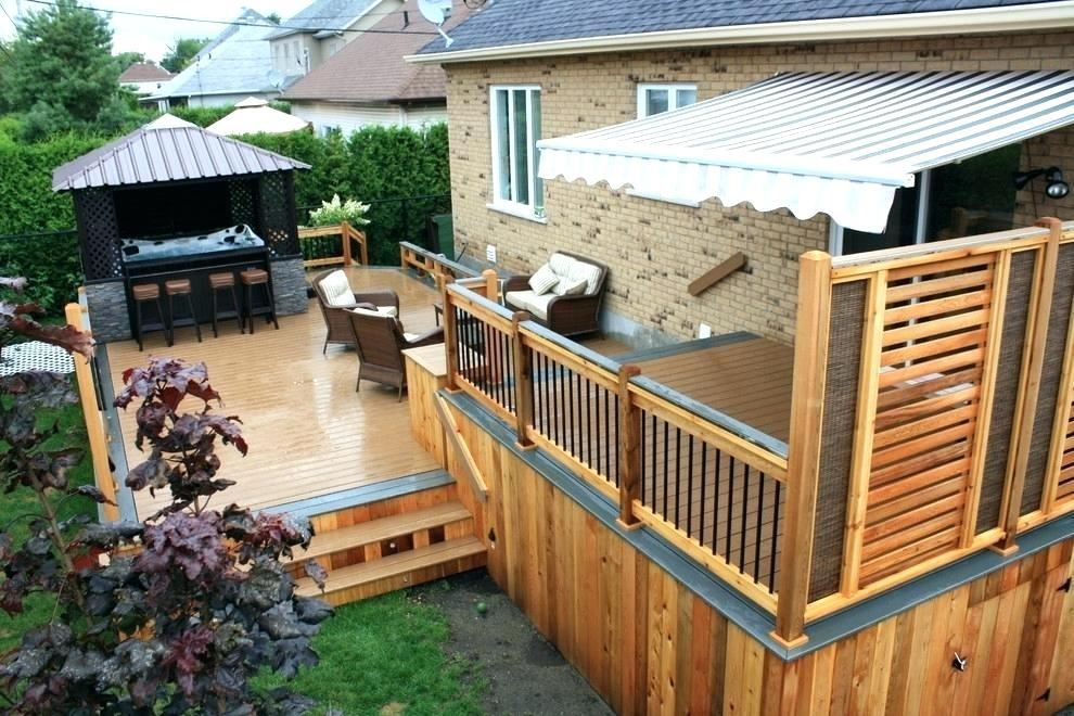 Image of: Outdoor Privacy Ideas For Decks