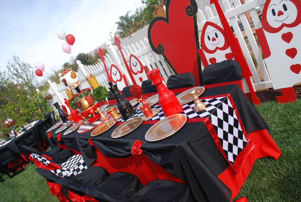 Image of: Party Alice In Wonderland Theme