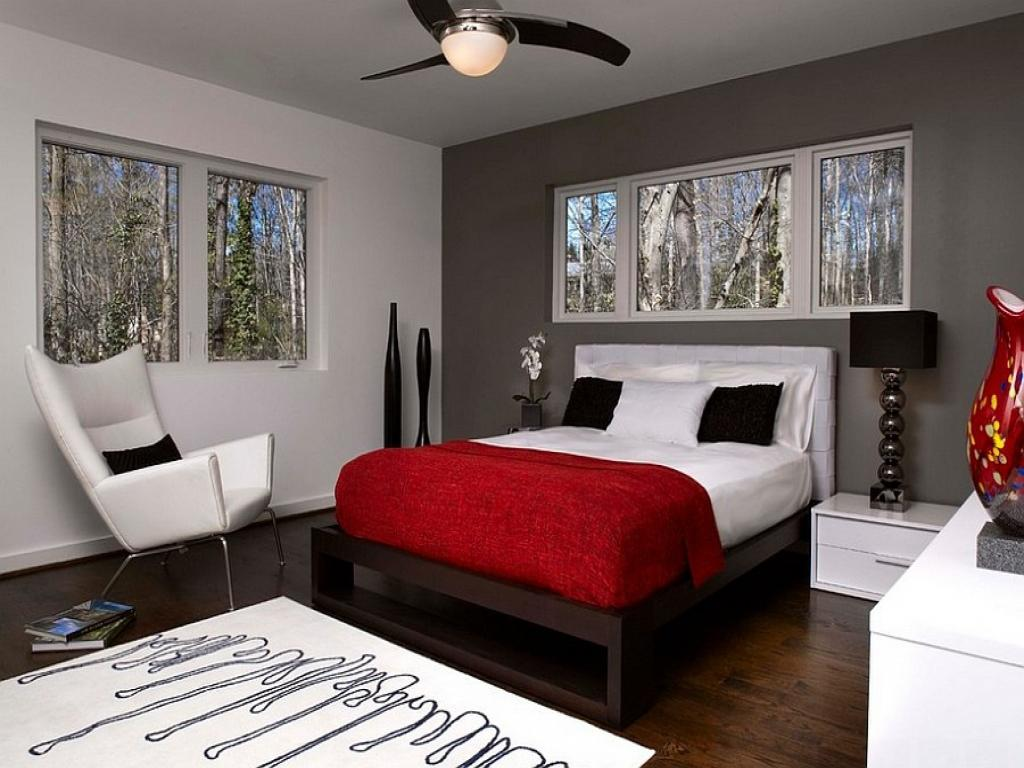 Image of: Red And Black Bedroom Design Ideas