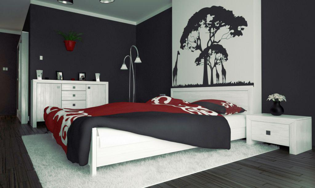 Image of: Red And Black Bedroom Designs
