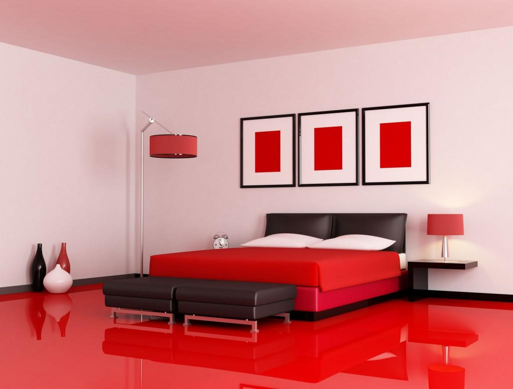 Image of: Red Black And Cream Bedroom Designs