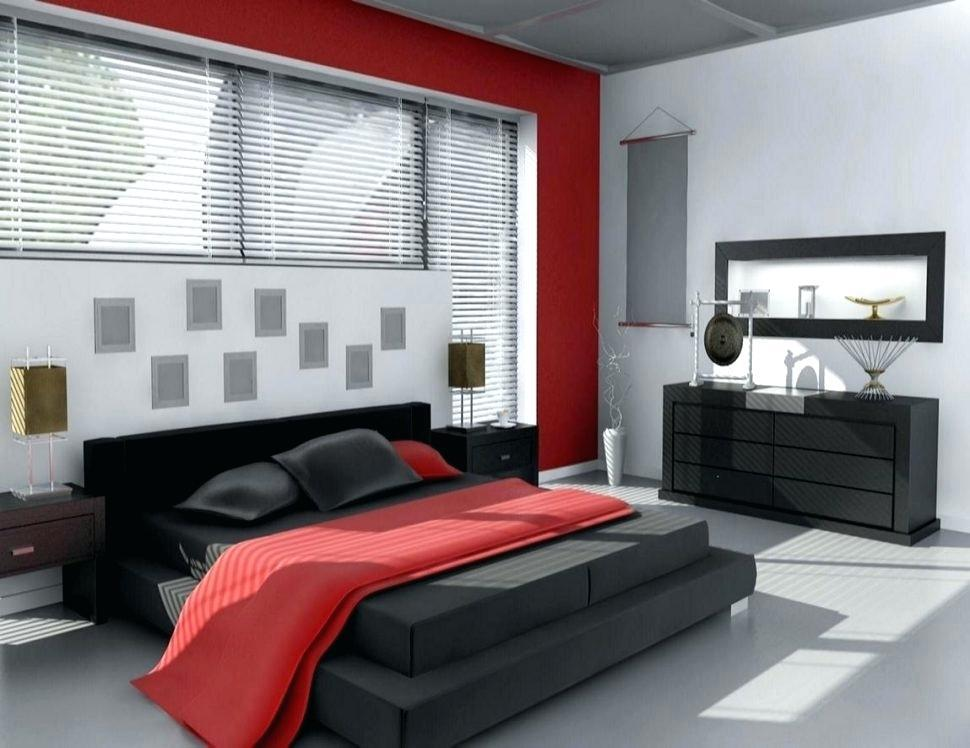 Image of: Red Black And Grey Bedroom Designs