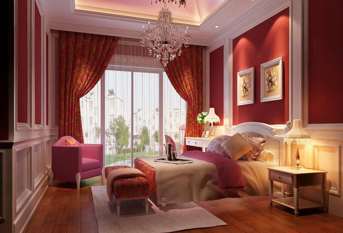 Image of: Romantic Bedroom Ideas Wall Colors