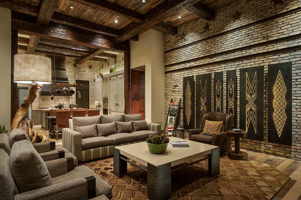 Image of: Rustic Contemporary Interiors Design