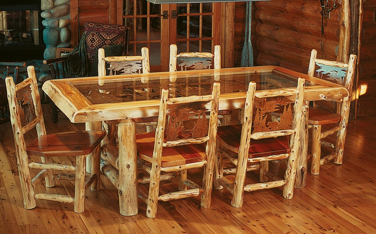 Image of: Rustic Dining Room Table Decor