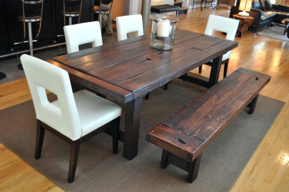 Image of: Rustic Dining Room Table Plans