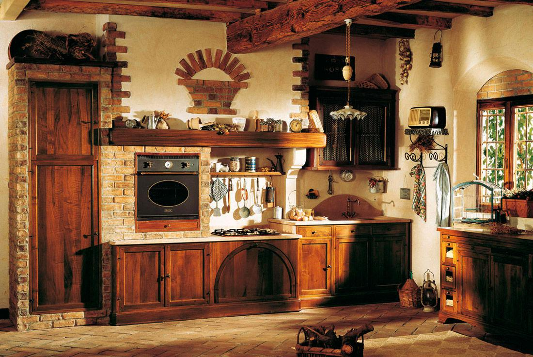 Image of: Rustic Italian Kitchen Style
