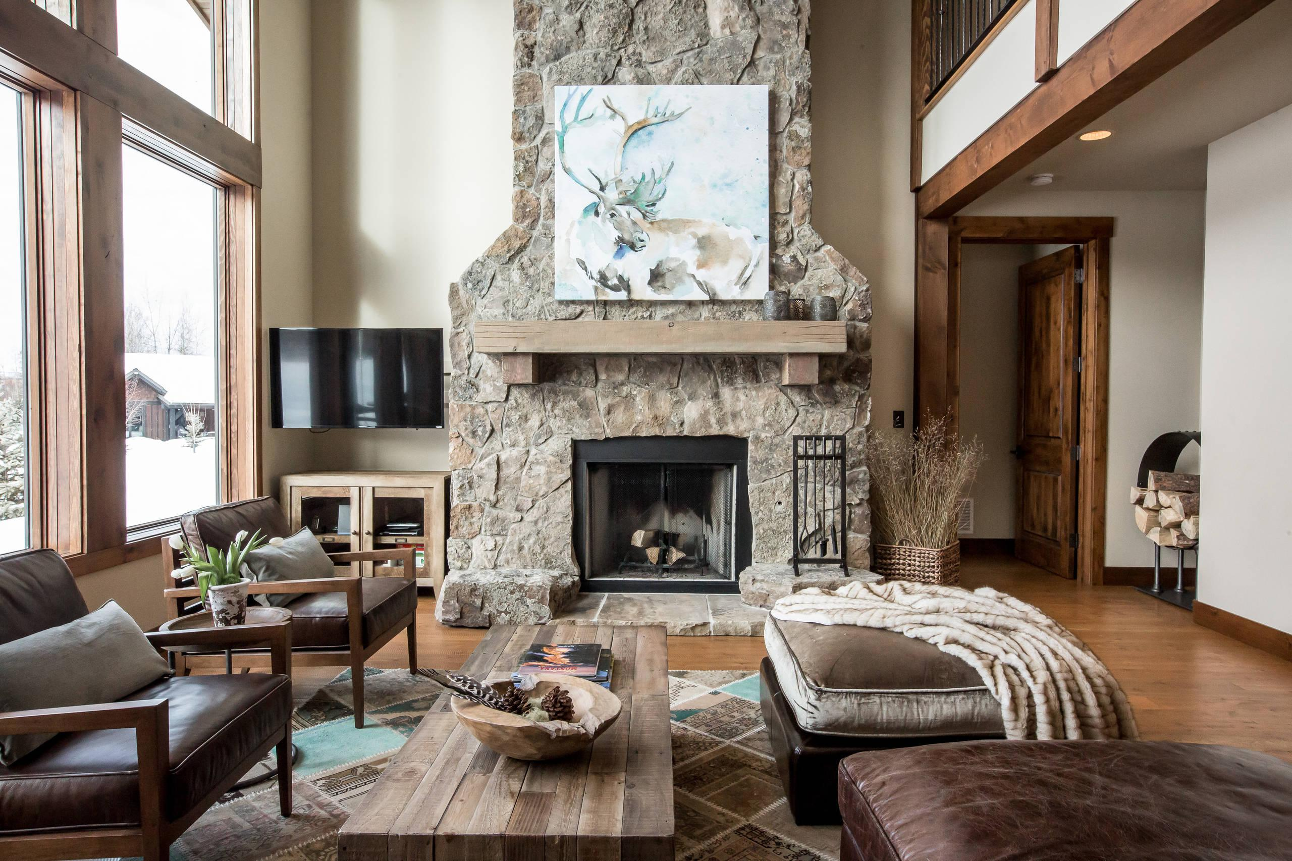 Rustic Modern Decorations Living Room