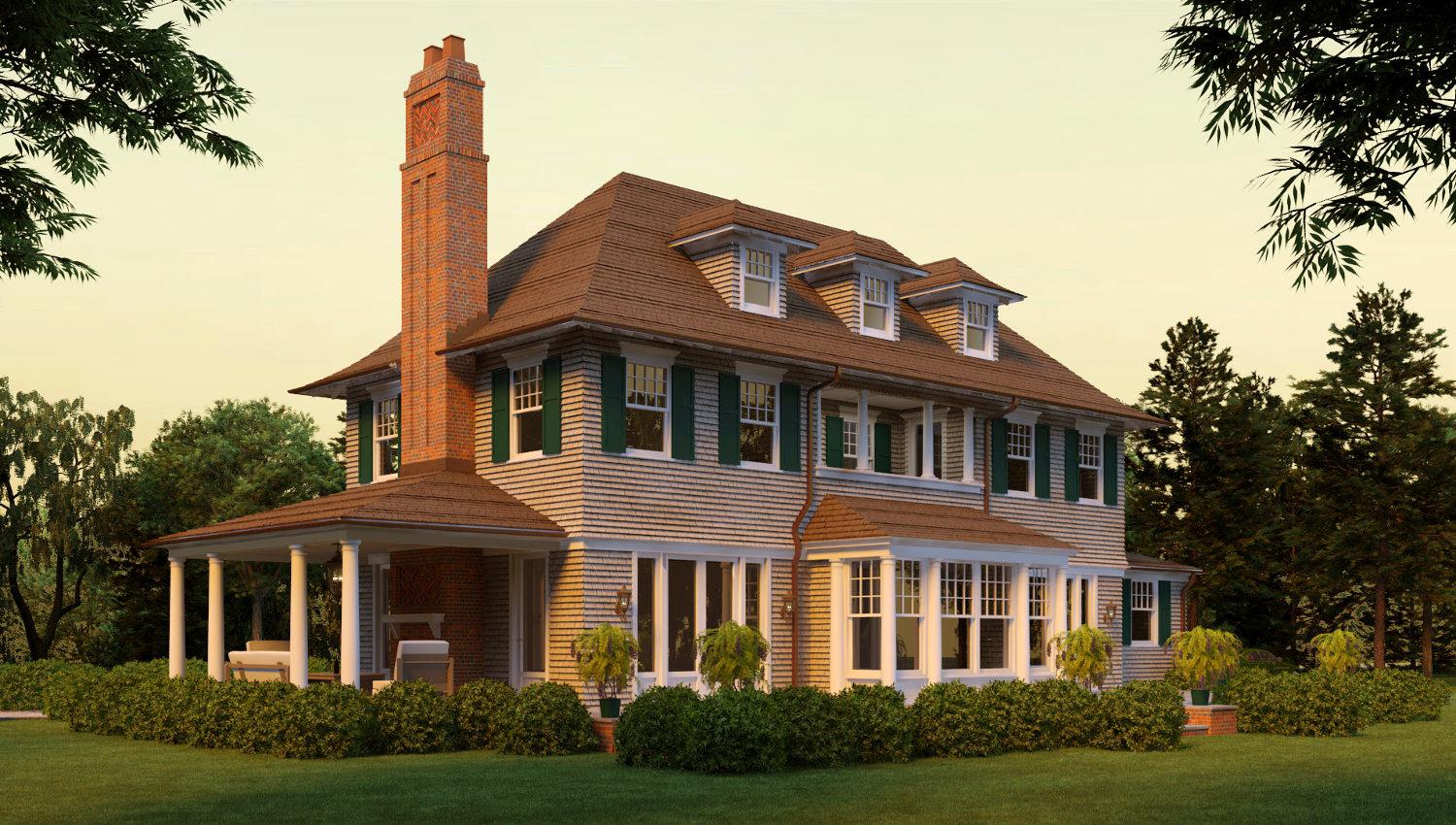 Image of: Shingle Style Homes Pictures