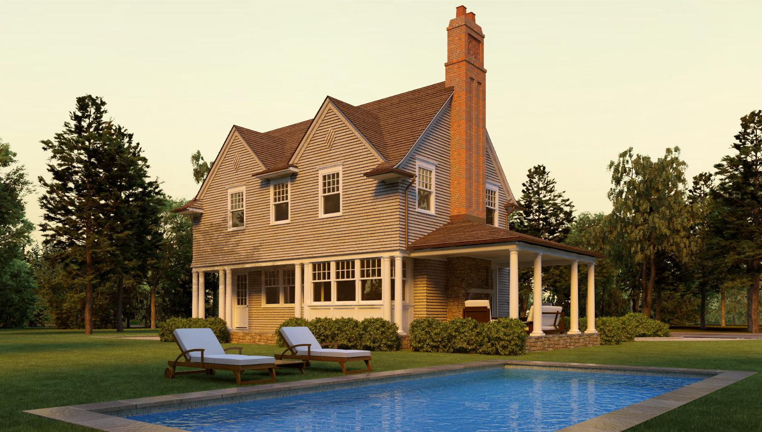 Image of: Shingle Style Homes Plans