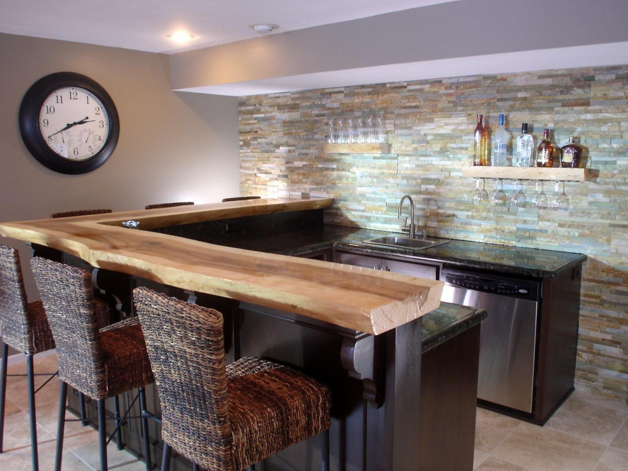 Image of: Simple Home Bar Plans