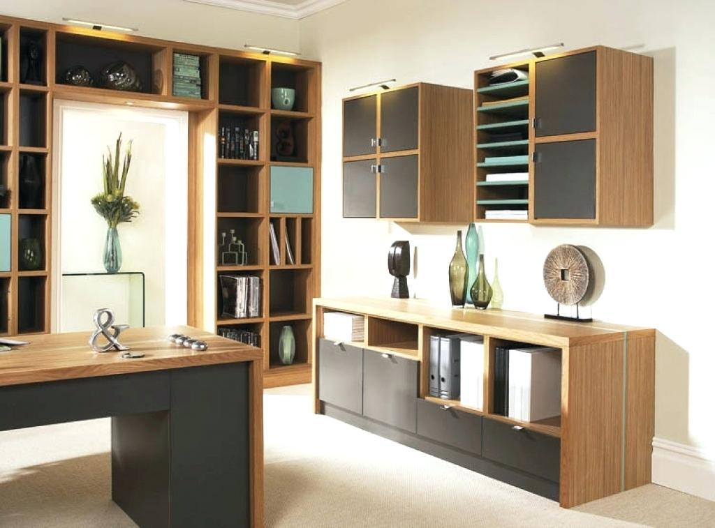 Image of: Simple Ideas For Home Office Cabinets