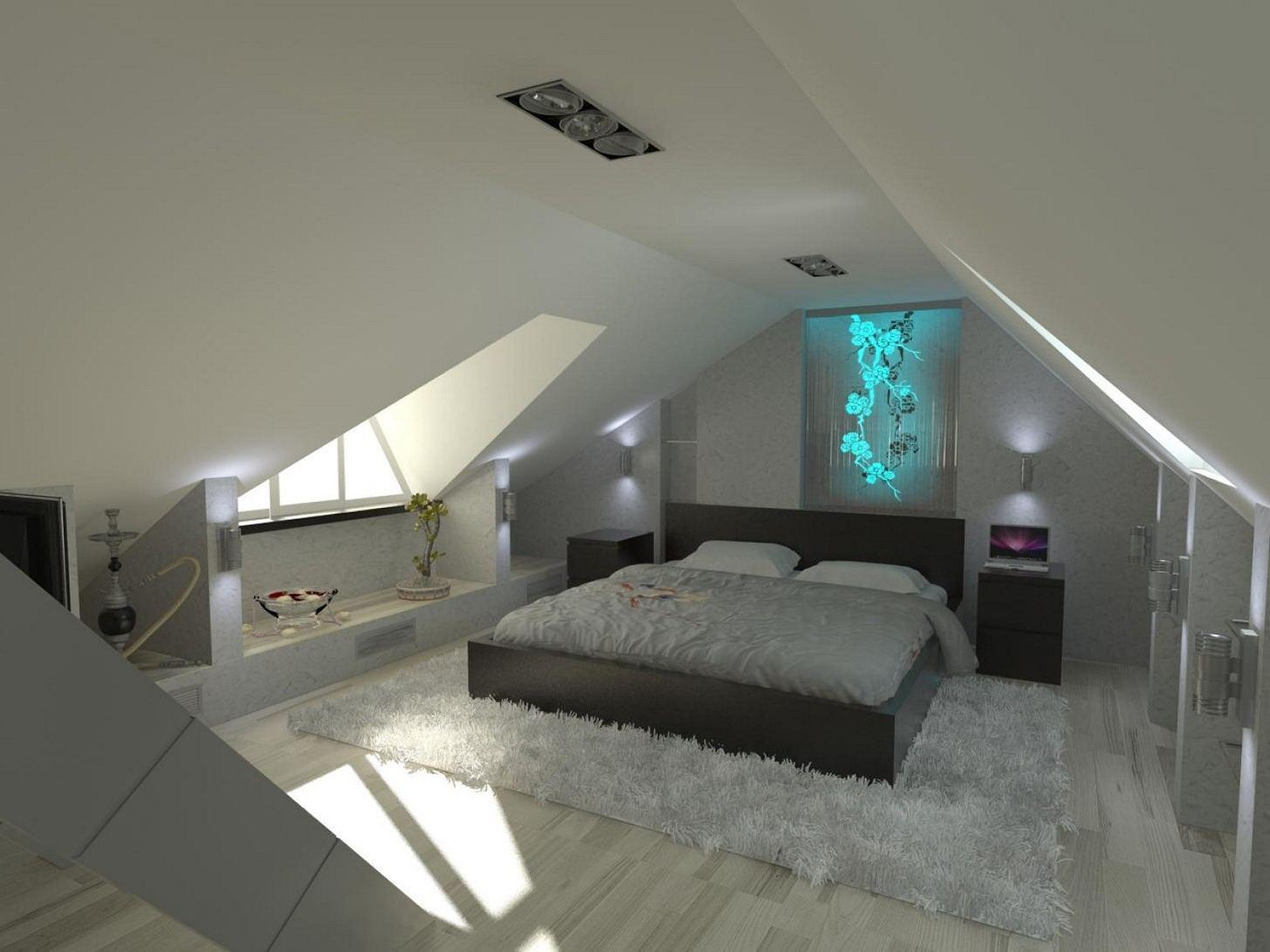Image of: Small Attic Bedrooms Ideas