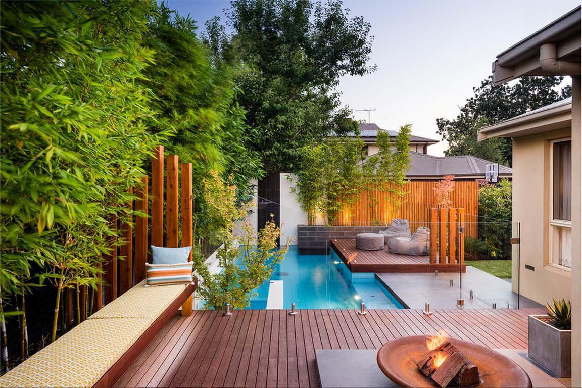 Image of: Small Backyard Ideas With Swimming Pool