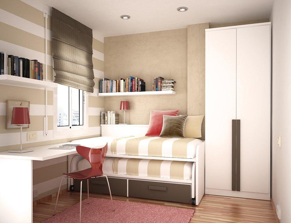 Image of: Small Bedroom Spaces Design
