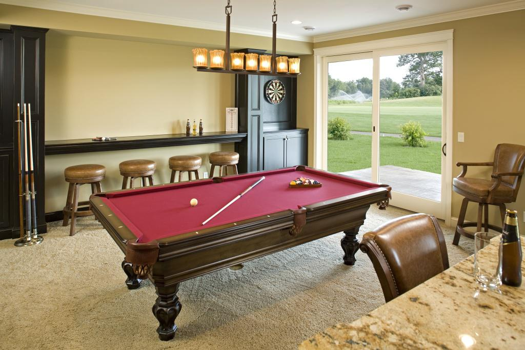 Image of: Small Billiard Room Decor