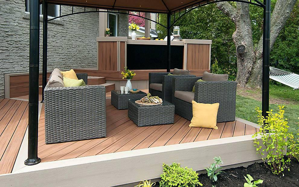 Image of: Small Deck Decorating Ideas On A Budget