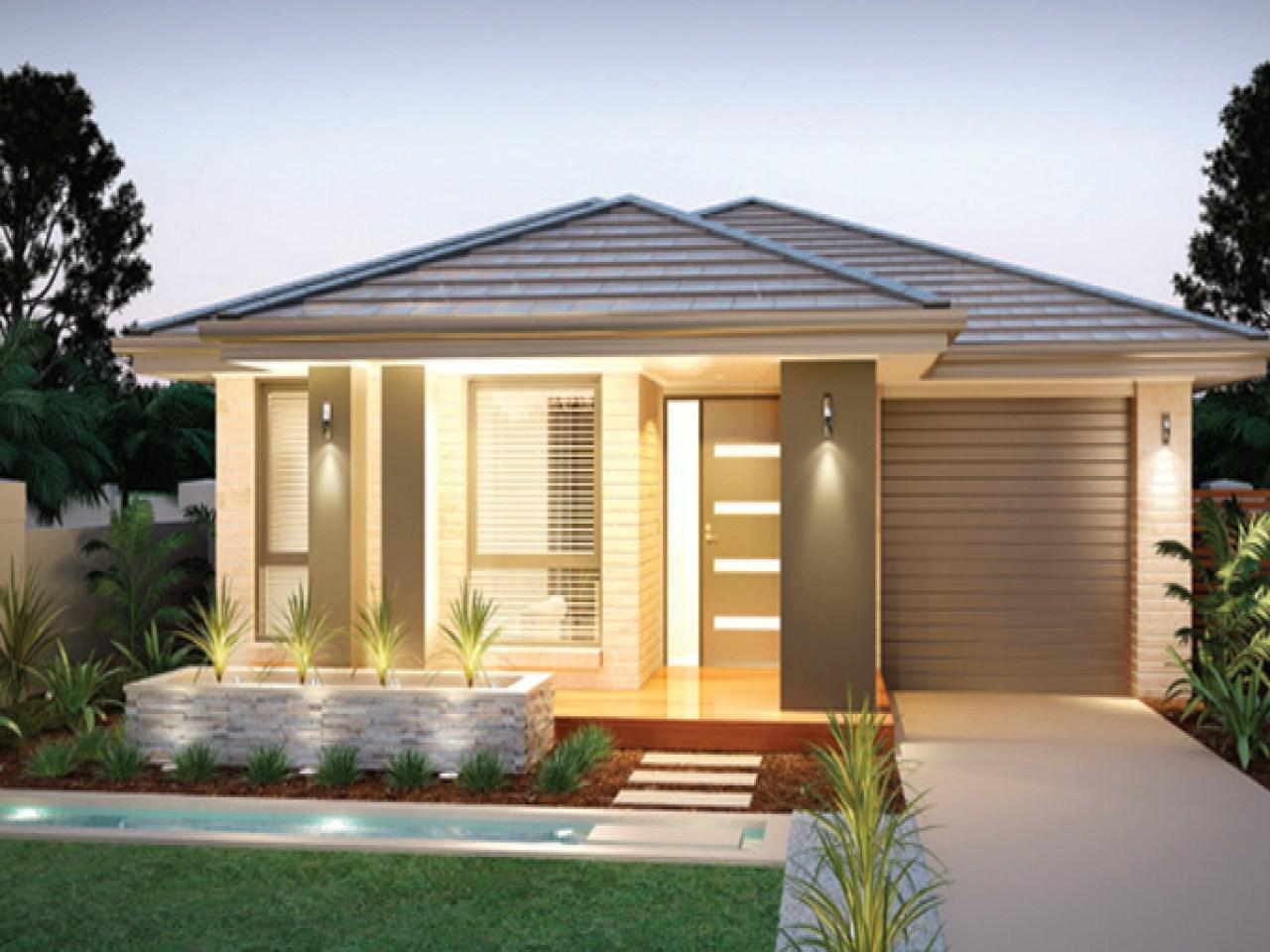 Image of: Small Modern House Plans With Photos