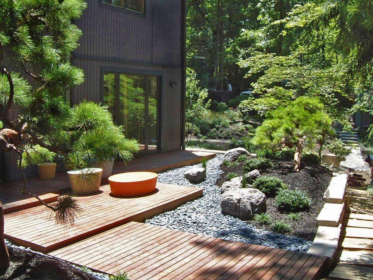 Image of: Small Space Japanese Garden Design