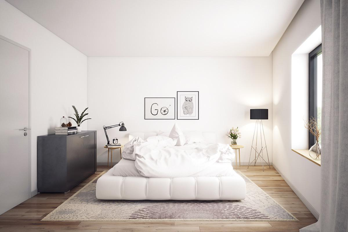 Image of: Small White Bedroom Design Ideas
