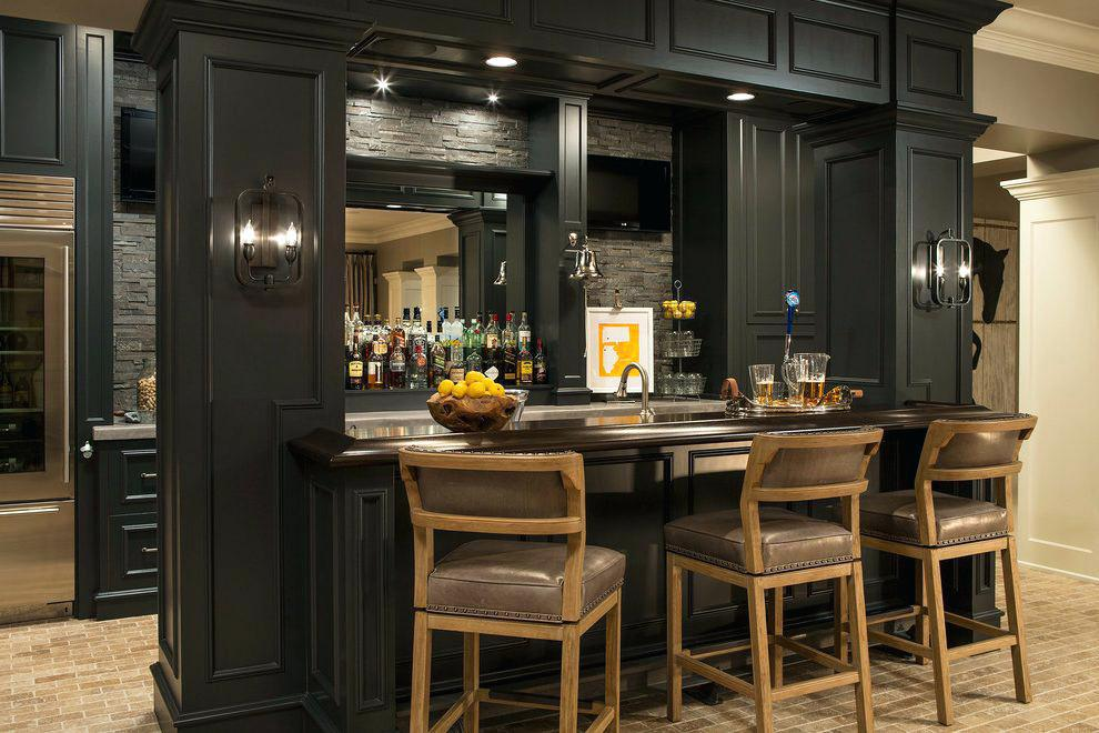 Image of: Stylish Home Bar Pictures