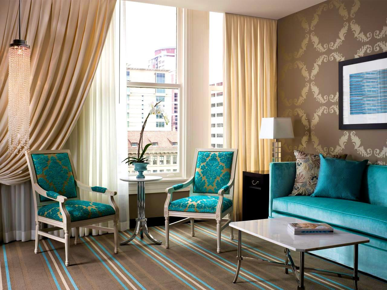 Image of: Top Turquoise Interior Design Ideas