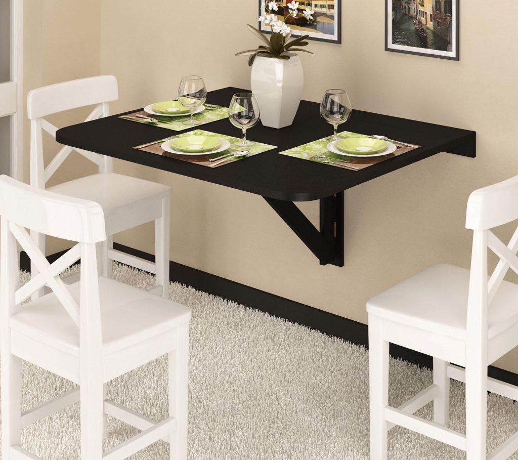 Image of: Wall Mounted Dining Table Design