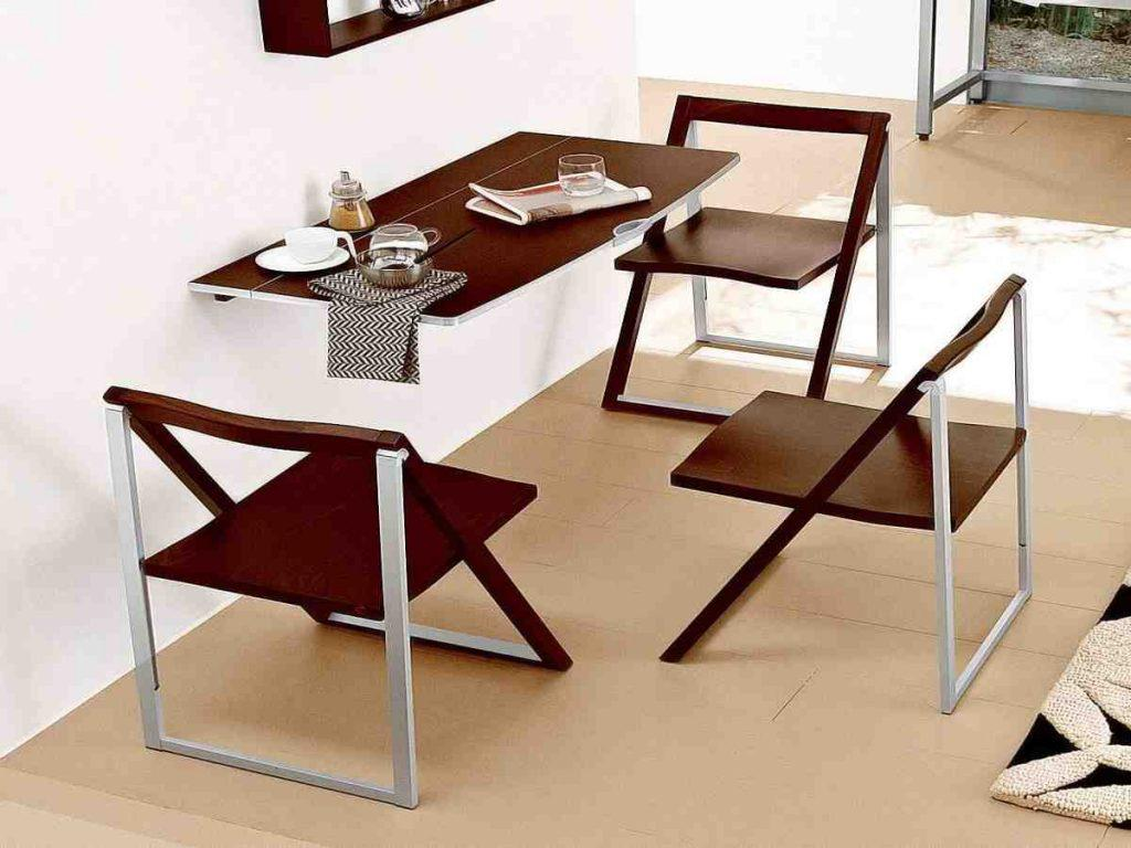 Image of: Wall Mounted Dining Table Pictures