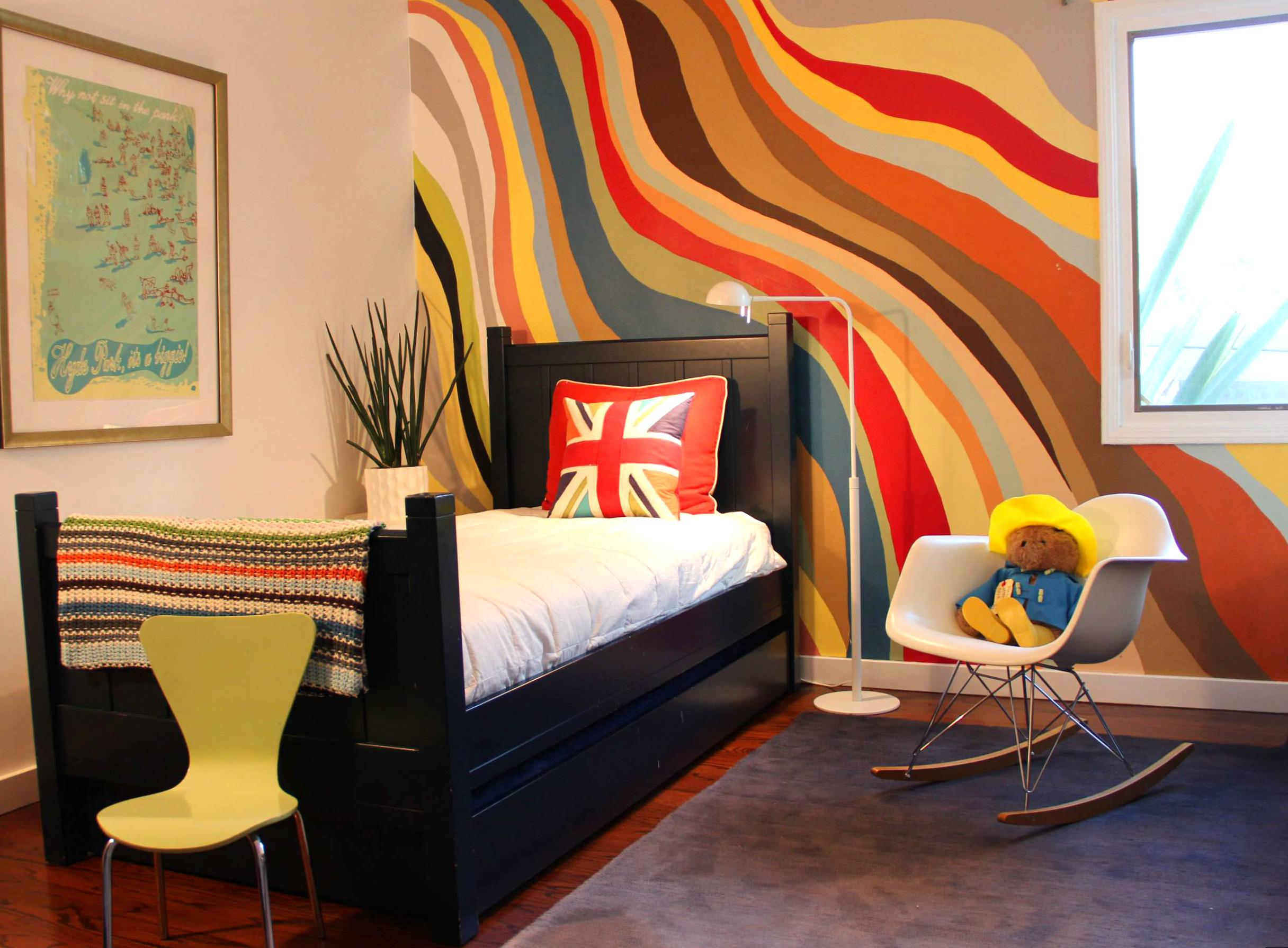 Image of: Wall Paint Design For Bedroom