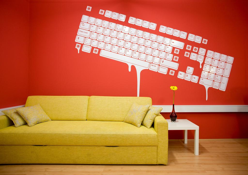 Image of: Wall Paint Designs For Living Room