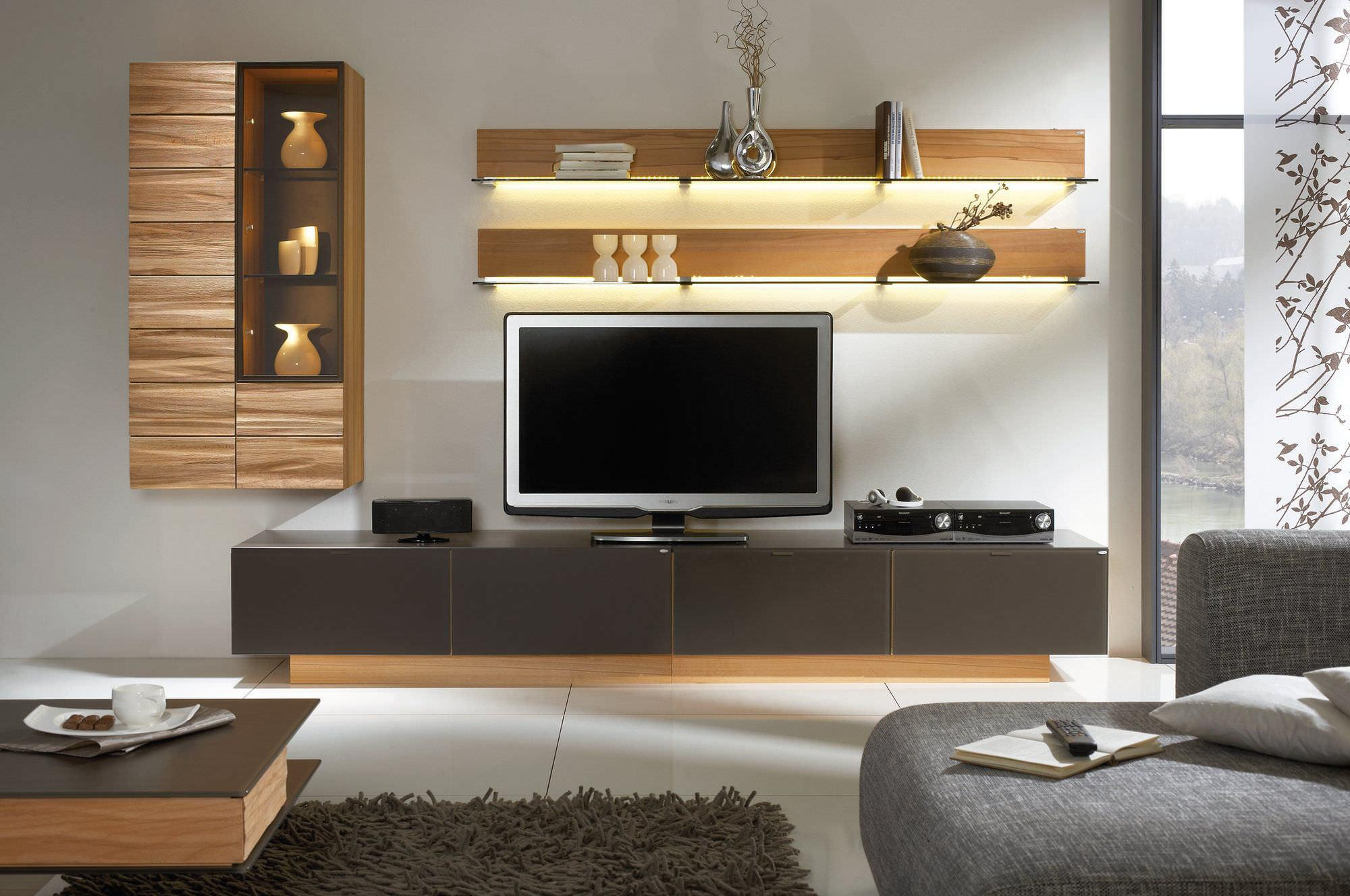 Image of: Wall Shelf Unit Modern