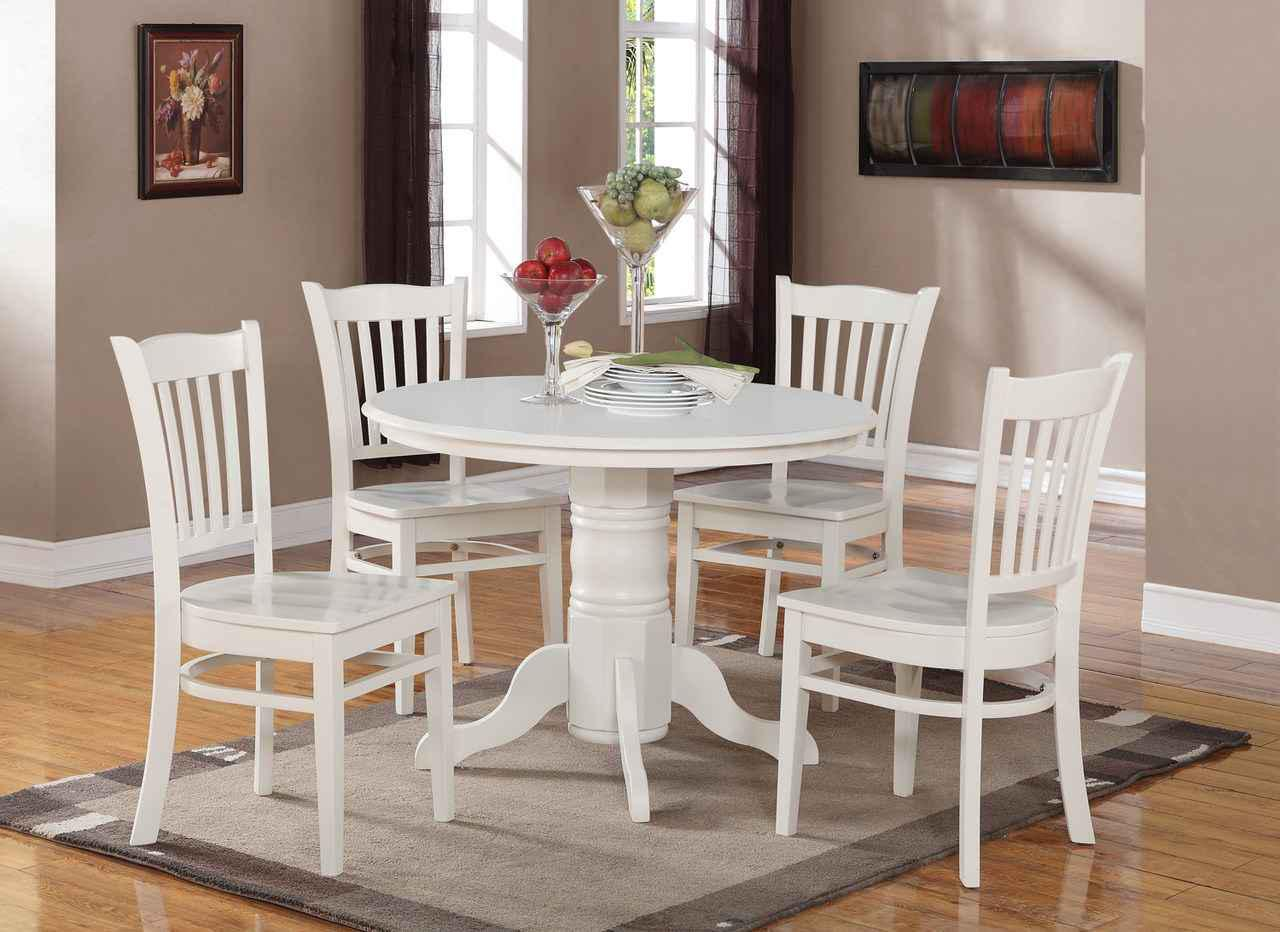 Image of: White Kitchen Table Set