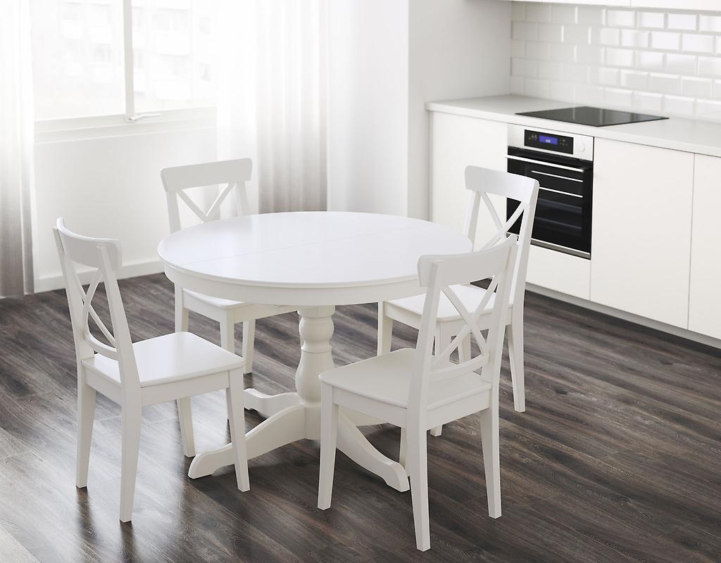 Image of: White Kitchen Table Walmart