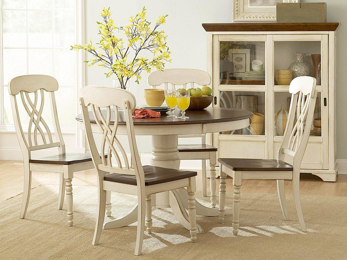 Image of: White Kitchen Table