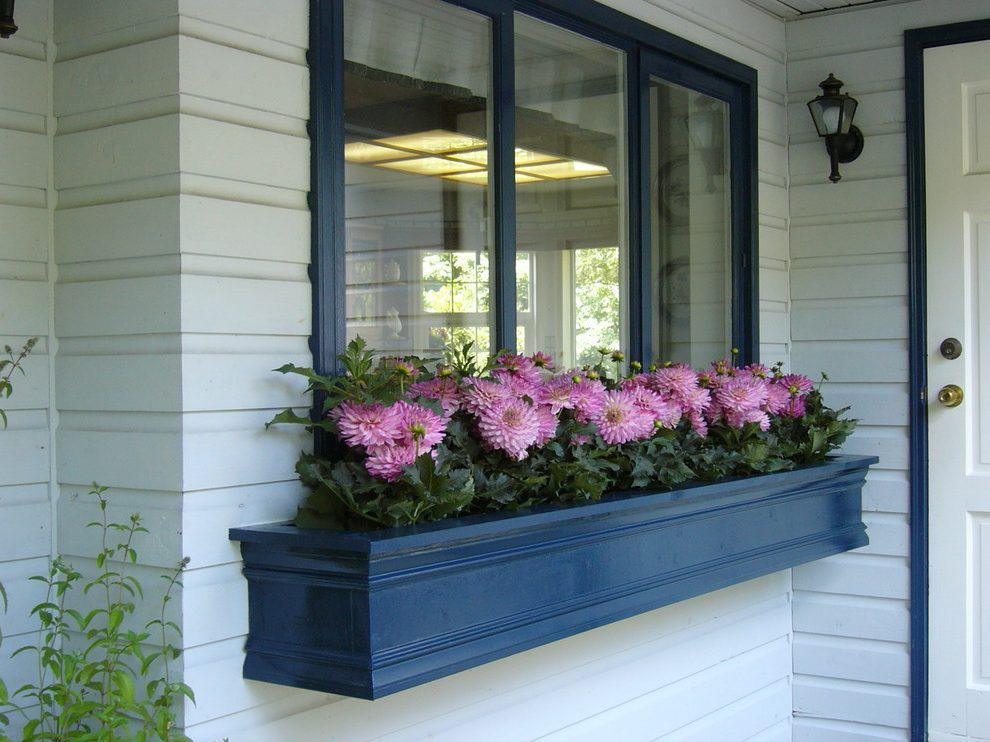 Image of: Window Box Ideas With Fake Flowers