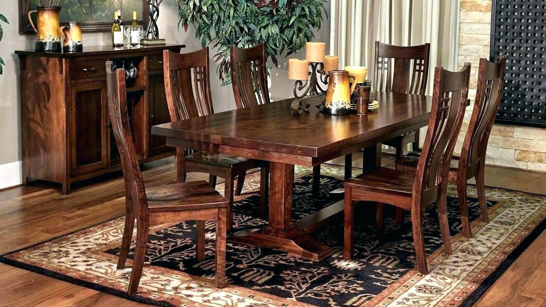 Image of: Wooden Dining Room Table And Chairs