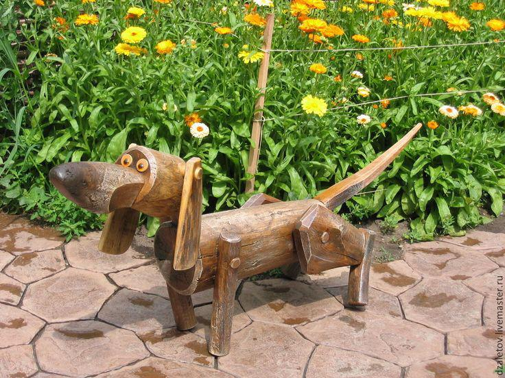 Image of: Wooden Garden Ornaments Animals
