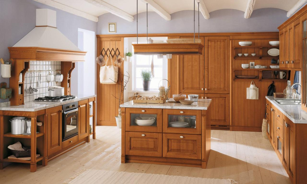Image of: Wooden Kitchen Design Interior