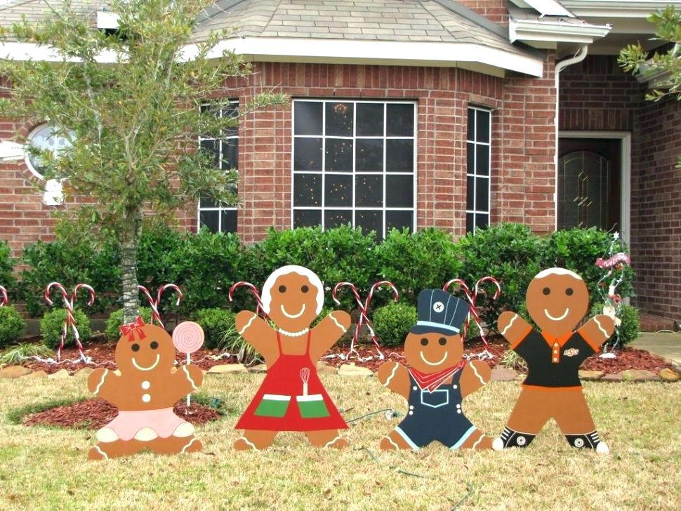 Image of: Wooden Yard Decorations For Christmas
