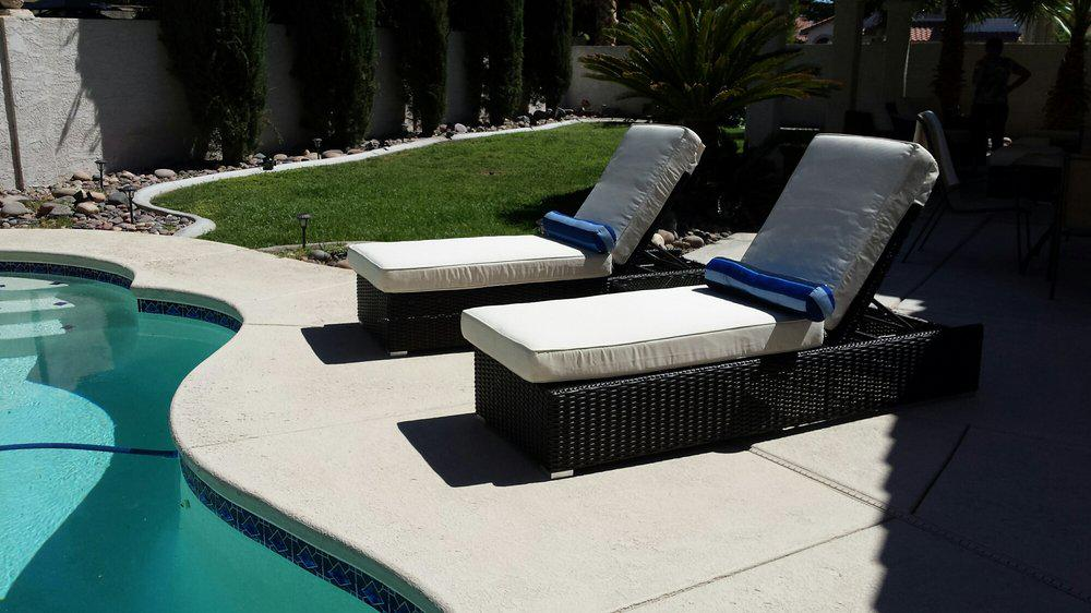 Image of: patio chaise lounge cushions