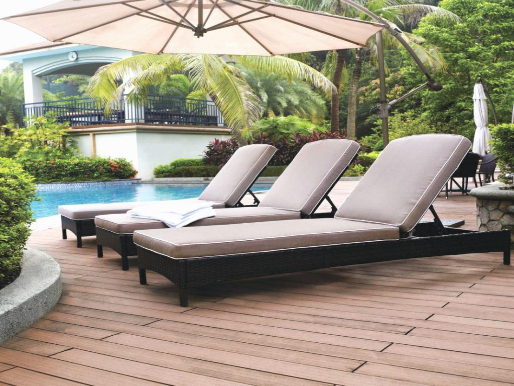 Image of: patio chaise lounge