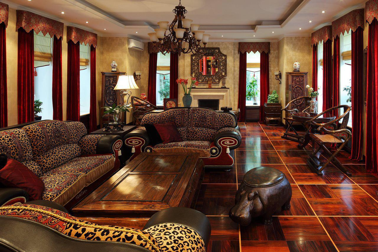 Image of: African Style Living Room Furniture