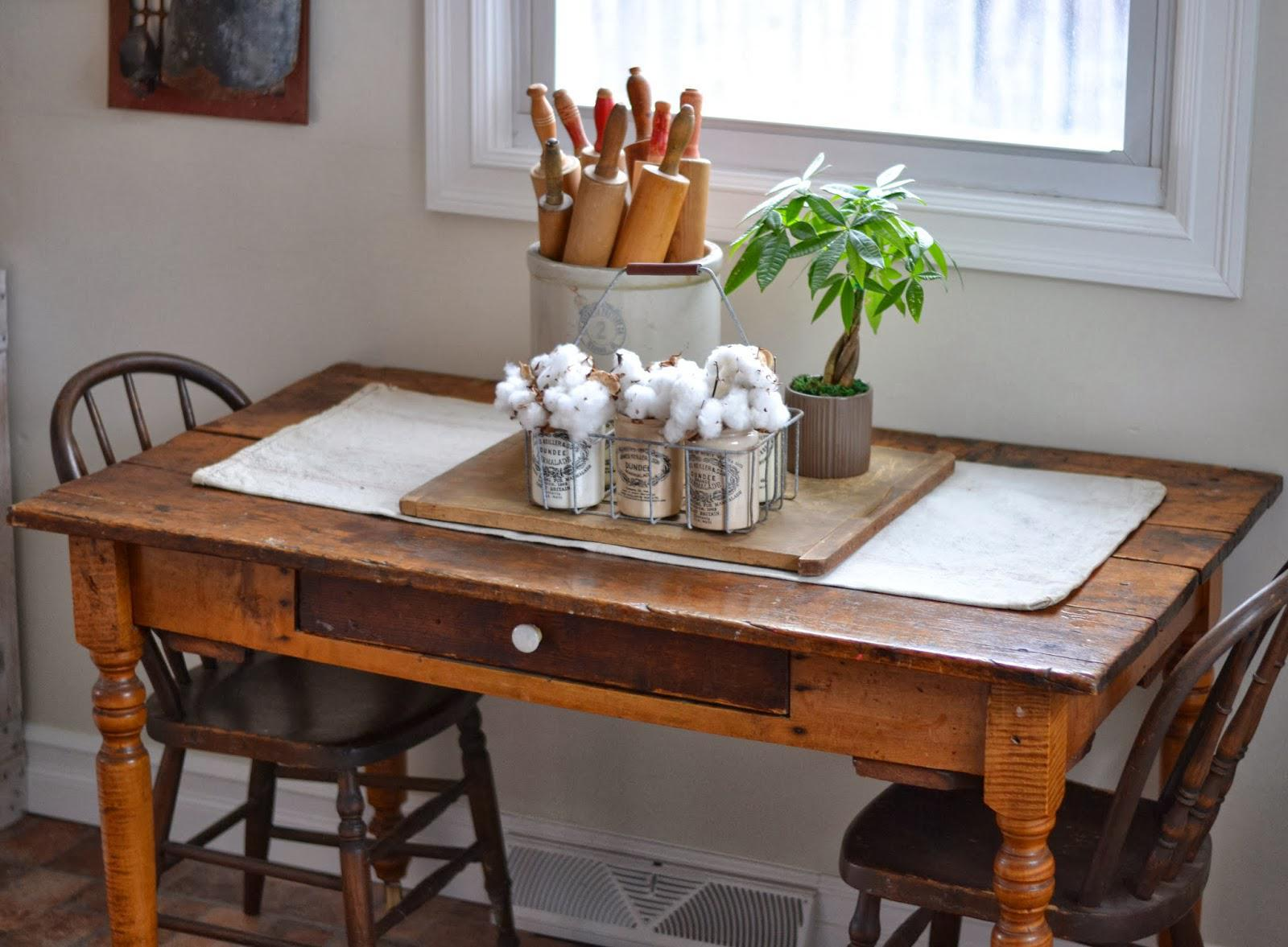 Image of: Antique Rustic Farm Table