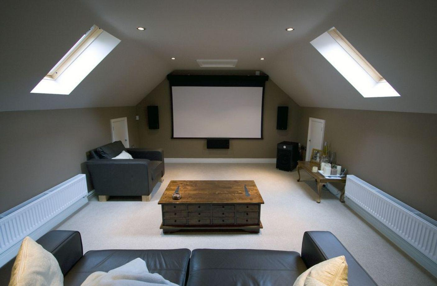 Image of: Attic Home Theater Ideas