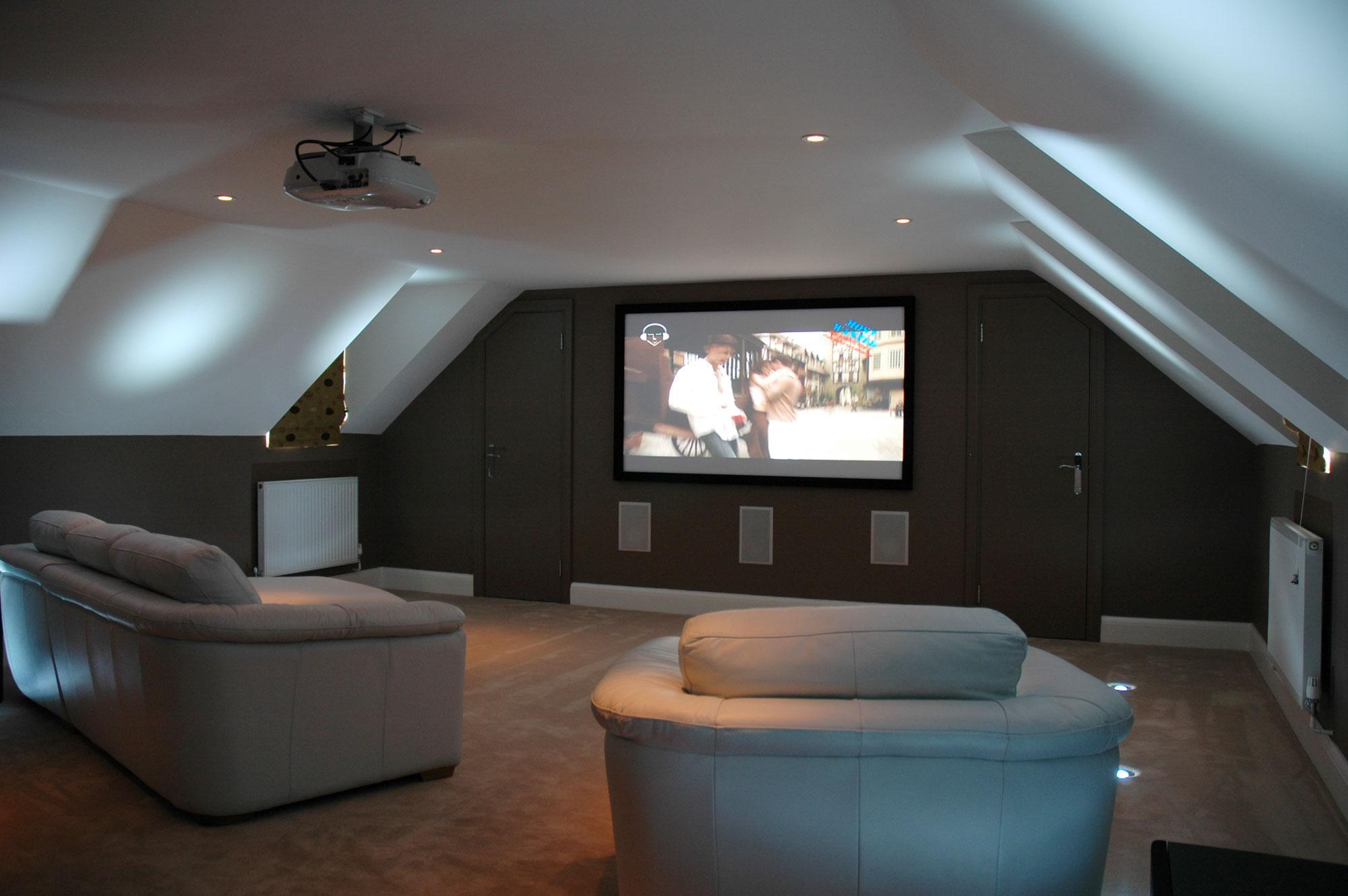 Image of: Attic Home Theater Room